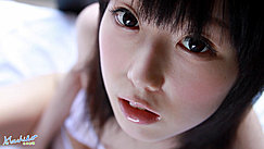 Machiko Looking Up Fringe Down To Her Eyes Lips Parted