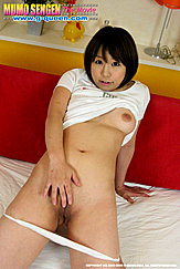 Hand On Shaved Pussy Panties Pulled Down Her Thighs Left Breast Bared