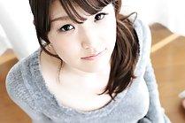 Pretty Yuna Ishihara strips grey dress and panties