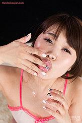 Yamashita Ayaka Blowing Cum Bubbles