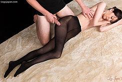 Rubbing Hot Pantyhose Against Her 97