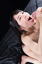 Looking Up Stroking Hard Cock Tongue Extended To Cum Dripping From Cock