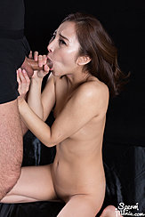 Hand Wrapped Around Hard Cock Performing Oral Sex