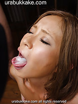 Cum in her mouth