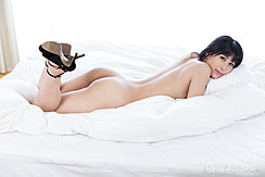 Shinosaki Kotomi Naked On Bed Nice Ass Wearing High Heels